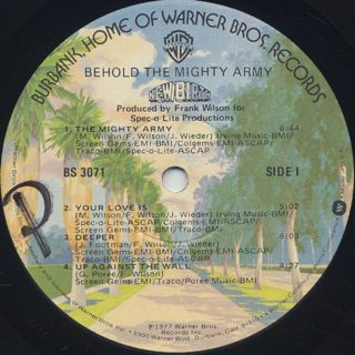 New Birth / Behold The Mighty Army label