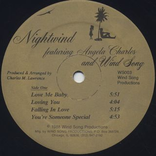 Nightwind Featuring Angela Charles And Wind Song / S.T. label
