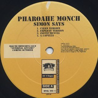 Pharoahe Monch / Simon Says label