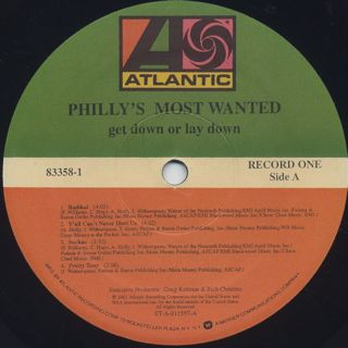 Philly's Most Wanted / Get Down Or Lay Down label