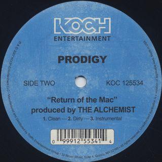 Prodigy / Stuck On You c/w Return Of The Mac label