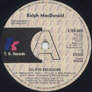 Ralph MacDonald / Calypso Breakdown
