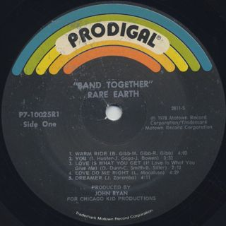 Rare Earth / Band Together label