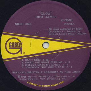Rick James / Glow label