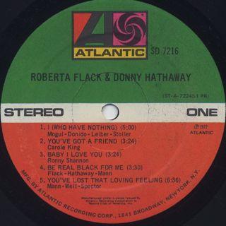 Roberta Flack & Donny Hathaway / S.T. label