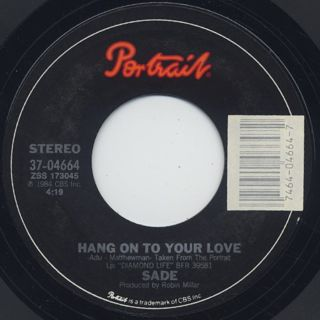 Sade / Hang On To Your Love c/w Cherry Pie label