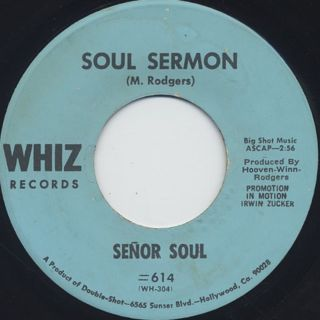 Senor Soul / The Mouse c/w Soul Sermon back