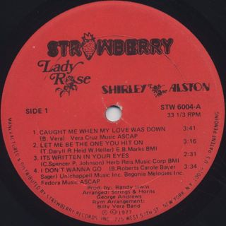 Shirley Alston / Lady Rose label