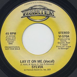 Sylvia / Lay It On Me (45) front