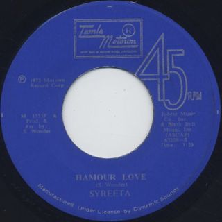 Syreeta / Harmour Love front