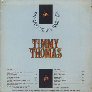 Timmy Thomas / Why Can't We Live Together back