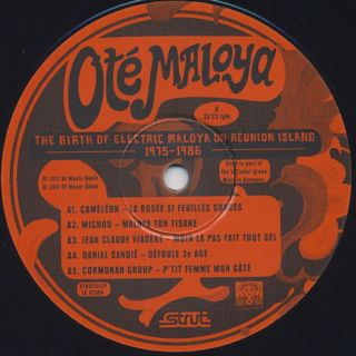 V.A. / Ote Maloya - The Birth Of Electric Maloya On Reunion Island 1975-1986 label
