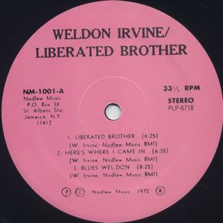 Weldon Irvine / Liberated Brother label