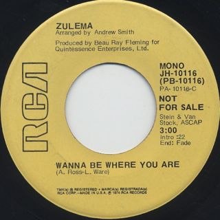 Zulema / Wanna Be Where You Are