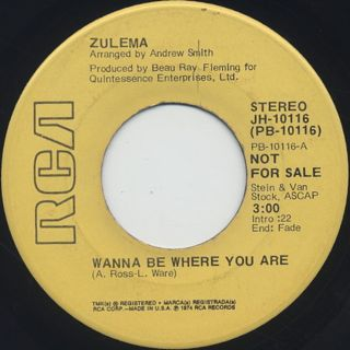 Zulema / Wanna Be Where You Are back