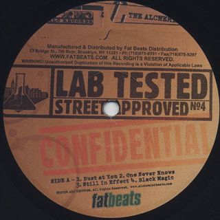 Alchemist / Lab Tested, Street Approved label