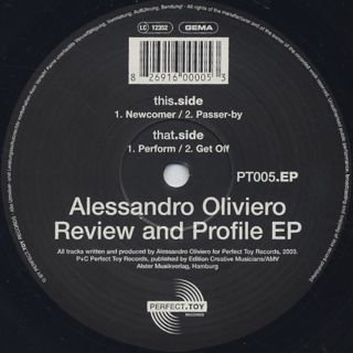 Alessandro Oliviero / Review And Profile EP back