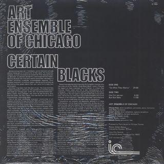 Art Ensemble Of Chicago / Certain Blacks back