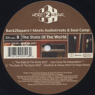 Back 2 Square 1 / The State Of The World label