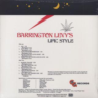 Barrington Levy / Barrington Levy's Life Style back