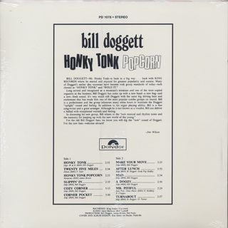 Bill Doggett / Honky Tonk Popcorn back
