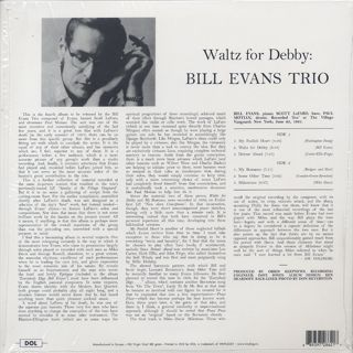 Bill Evans Trio / Waltz For Debby back