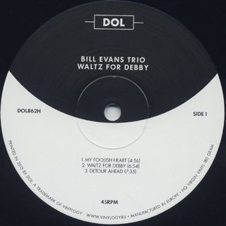 Bill Evans Trio / Waltz For Debby label