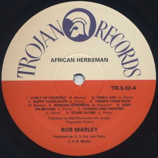 Bob Marley And The Wailers / African Herbsman label