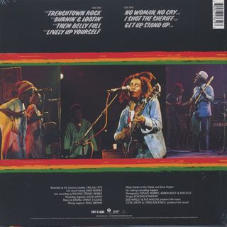 Bob Marley And The Wailers / Live! back