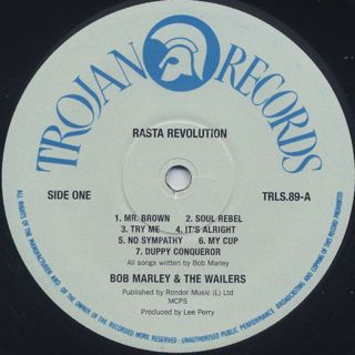 Bob Marley And The Wailers / Rasta Revolution label