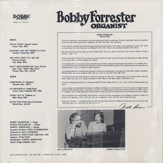 Bobby Forrester / Organist back