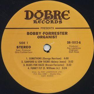 Bobby Forrester / Organist label