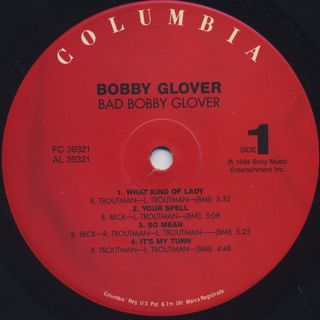 Bobby Glover / Bad Bobby Glover label