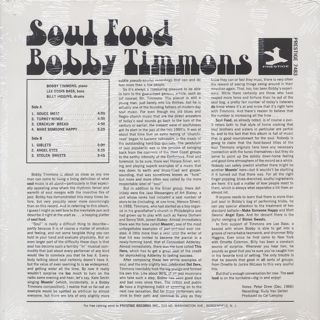 Bobby Timmons / Soul Food back