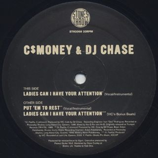 C$ Money & DJ Chase / Ladies Can I Have Your Attention front
