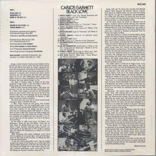Carlos Garnett / Black Love back