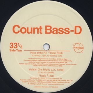 Count Bass D / On The Reels label