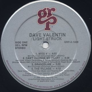 Dave Valentin / Light Struck label
