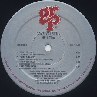 Dave Valentin / Mind Time label