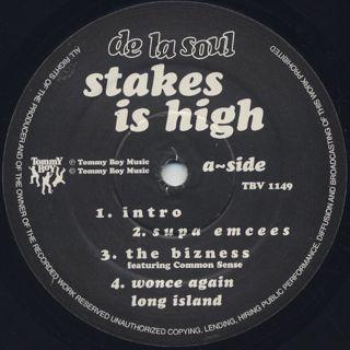 De La Soul / Stakes Is High (2LP) label