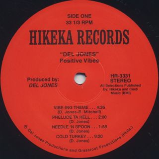 Del Jones' Positive Vibes / S.T. label