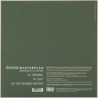 Donnie / Masterplan back