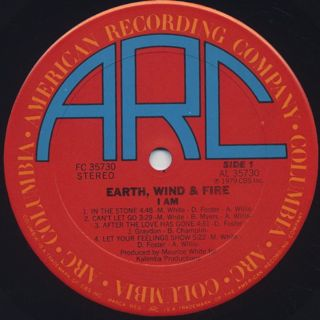 Earth, Wind & Fire / I Am label