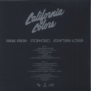 Ernie Fresh / Mophono / Egyptian Lover / California Colors EP back