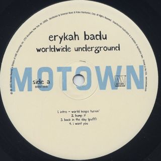 Erykah Badu / Worldwide Underground label