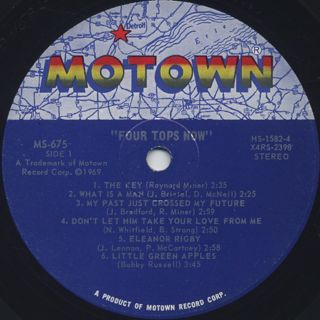 Four Tops / Now! label