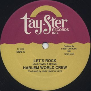 Harlem World Crew / Let's Rock c/w Love Rap back