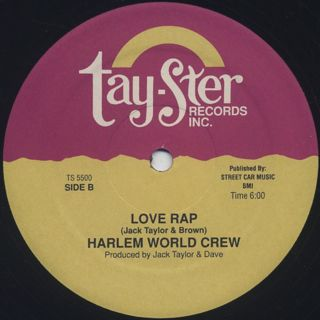 Harlem World Crew / Let's Rock c/w Love Rap label