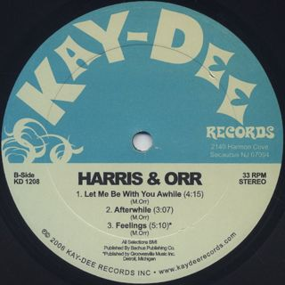 Harris & Orr / A Piece Of Mine back