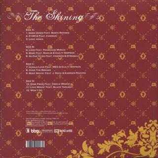 J Dilla / The Shining (2LP) back